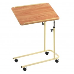 L Style Overbed Table with Castors