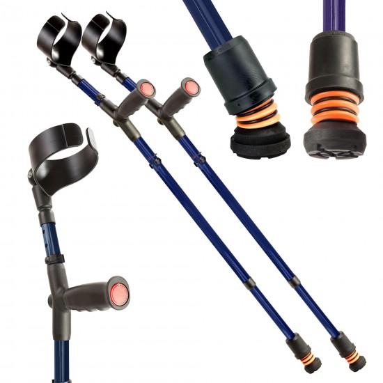 Flexyfoot Soft Grip Closed Cuff Adjustable Crutches
