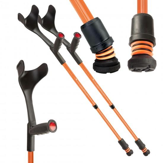 Flexyfoot Soft Grip Open Cuff Crutches