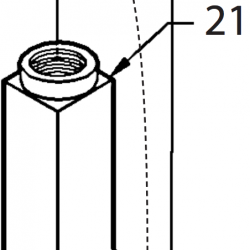 21 - Square leadscrew tube