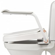 Etac Hi-Loo Toilet Seat with Arm Supports - Angled