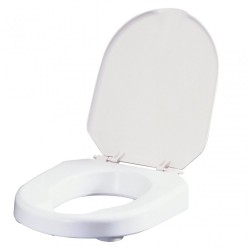 Etac Hi-Loo Toilet Seat with Brackets and Lid - 10 cm